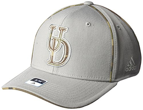 adidas NCAA Delaware Fightin' Blue Hens Men's Hint of Camo Flex Fit Cap, Small/Medium, Grey (Delaware Football)