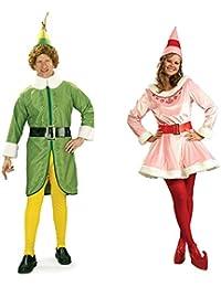 Buddy The Elf and Jovi Couples Costume Bundle Set - Standard