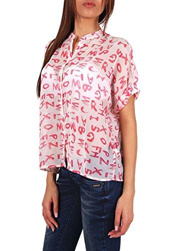 "Rut & Circle Mujer Blusa ""Price Sue Texto Rosa Comb"