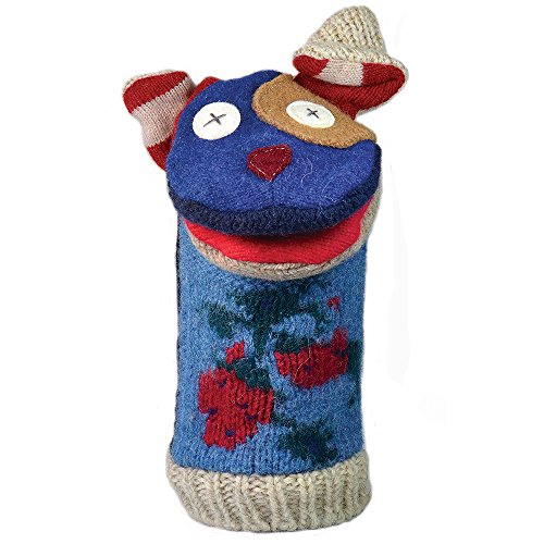 """Price comparison product image Cate and Levi 12"""" Handmade Dog Hand Puppet (Premium Reclaimed Wool),  Colors Will Vary"""