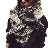 MuLuo Women Long Scarf Tassels Popular Bohemian Fashion Cotton Design Shawls Floral Muslim Hijab Scarves black