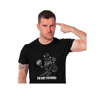 Gaamers Camiseta Hombre Negro Yo Soy tu Padel Talla M: Amazon.es ...