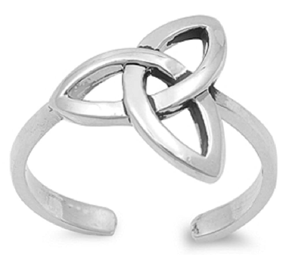 .925 Sterling Silver Toe Ring - Celtic Knot 4mm