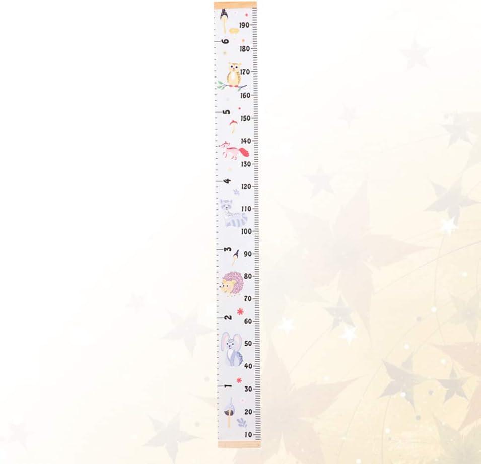 NUOBESTY Grafico di Crescita del Bambino Altezza Bambini Adesivi Consegna Righello Altezza Righello Wall Art Sticker Decal per Cameretta Soggiorno