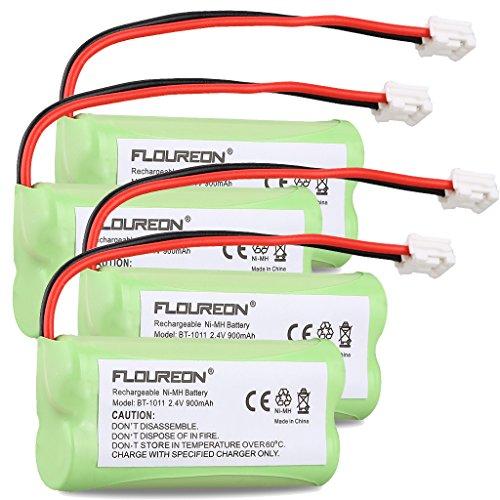 Floureon 4 Packs Rechargeable Cordless Phone Batteries for Vtech 6053 CS6219 Uniden BT1011 BT-1011 BT1018 BT-1018 BT1022 BT-1022 BT18433 BT-18433, BT18432 BT-184342, BT28433 BT-28433, BT284342 BT-284342