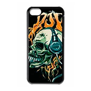 Customized Cover Case for Iphone 5C with Skull shsu_1998898 at SHSHU