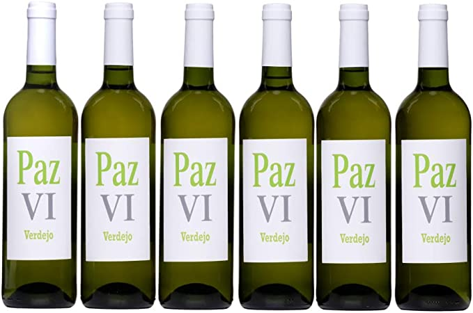 Vino blanco Verdejo seco afrutado vino joven calidad suprema Paz VI Vino Verdejo - Pack de Botellas 6 x 750 ml - Total: 4500 ml: Amazon.es: Alimentación y bebidas