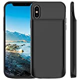 #9: Vproof 6000mAh iPhone X Battery Case, Portable Charger Rechargeable Charging Case External Battery Protective Cover for Apple iPhone X, iPhone 10 (5.8 Inch) (Black)