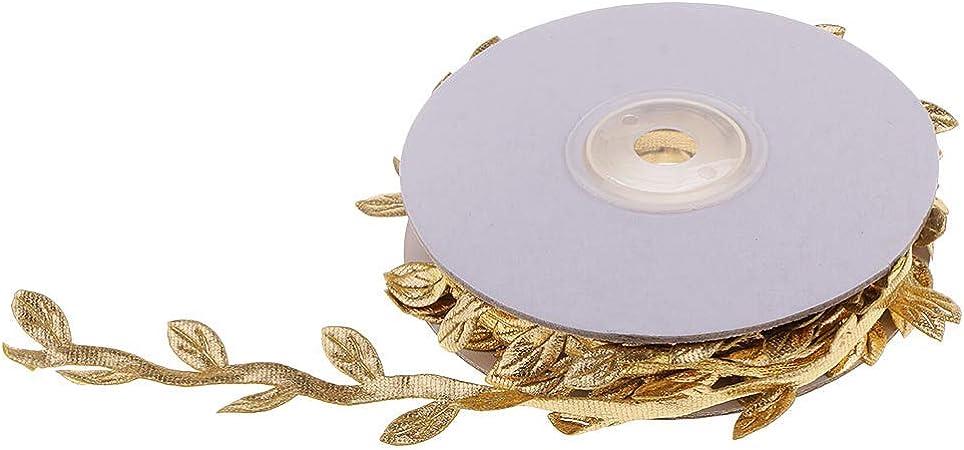 10 Meters Satin Fabric Leaf Garland Ribbons Sewing Trim Wedding Decoration
