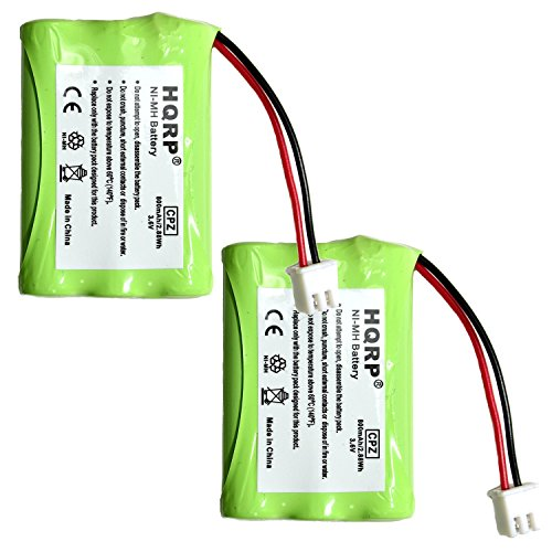 HQRP 2-Pack Battery for Tri-tronics 1038100 1107000 CM-TR103 1038100-D 1038100-E 1038100-F 1038100-G Replacement Remote Controlled Dog Training Collar Receiver