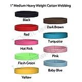 "5 Yards Cotton Webbing - 1"" Medium Heavy Weight Webbing- 21 Colors to Choose"