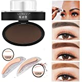 Skinfood Eyebrow Powder - LtrottedJ Natural Eyebrow Powder Makeup Brow, Stamp Palette Delicated Shadow Definition (A)