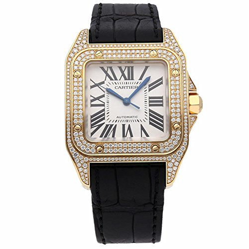 Cartier Santos 100 Automatic-self-Wind Female Watch WM502051 (Certified Pre-Owned)