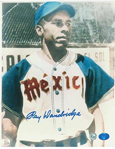 Autographed Dandridge Photograph - Azues de Veracruz Mexico 8x10 Pose - Autographed MLB Photos