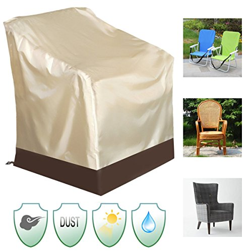 Chairwoman Underwrite - 84x67x73cm Waterproof Chair Cover Outdoor Patio Yard Furniture Protection - Covering Binding Spread Screening President Encompass Pass Book Chairperson - 1PCs