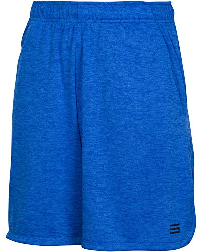 Dry FIT Gym Shorts for Men - Mens Workout Running Shorts - Moisture Wicking with Pockets and Side Hem Royal Blue (Best Six Pack Workout)