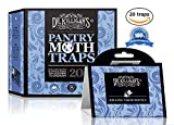 Dr. Killigan's Premium Pantry Moth Traps With Pheromone Attractant | Safe, Non-Toxic with No Insecticides | Pro Pack (20, Blue Traps)