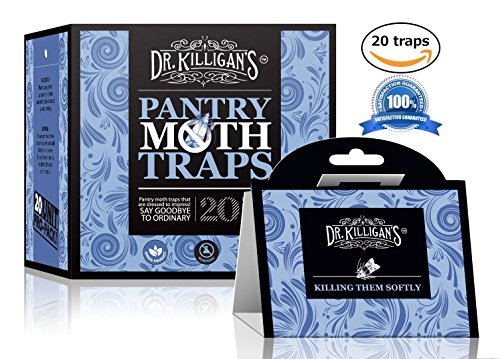 Premium Pantry Moth Traps (6 Black Traps) With Pheromone Attractant | 100% Safe, Non-Toxic and Insecticide Free