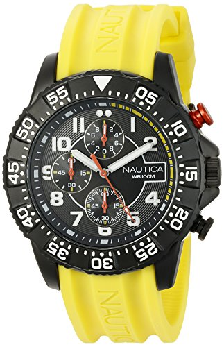 Nautica Men's NAD17515G NSR 104 Analog Display Analog Quartz Yellow Watch