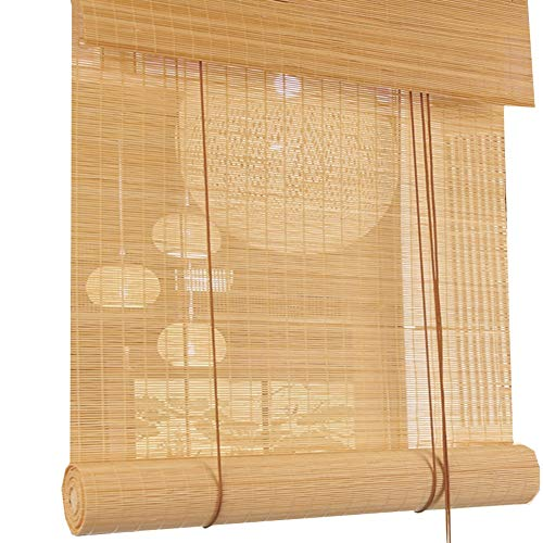 (QIANDA Roll Up Window Blinds Bamboo Curtain Shutter Partition Decoration Venetian Blind Blackout Roller Shades for Door/Window, Sizes Customizable (Color : A, Size : 50x50cm) )