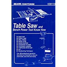 Table Saw and Bench Power Tool Know How Sears/Craftsman 9291125