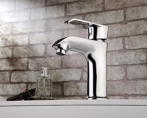 Hlluya Professional Sink Mixer Tap Kitchen Faucet The copper cold water taps full copper cold water faucet basin mixer chrome plated basin