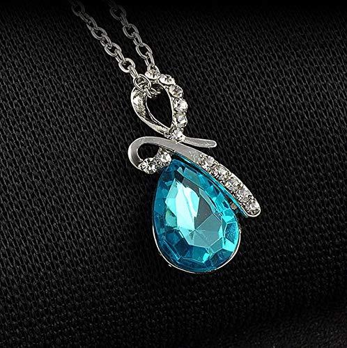 Kaputar Cute Angel Tear Pendant Shiny Delicate Chain Necklace Elegant Women Jewelry | Model NCKLCS - 21127 |