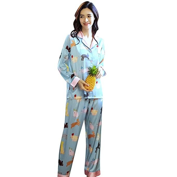 40c2e283e22a KIMODO Nuevas Mujeres Lindas Impresas Ropa de Dormir Moda Seda Inicio Ropa  Ropa Interior Ropa Interior: Amazon.es: Ropa y accesorios