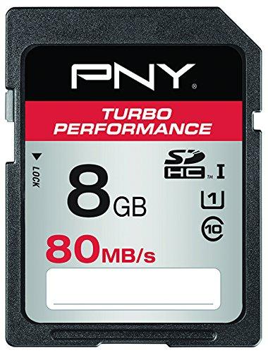 PNY Turbo Performance - Tarjeta de Memoria SD de 8 GB, Clase 10 ...