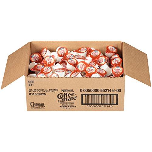 NESTLE COFFEE-MATE Coffee Creamer, Cinnamon Vanilla Creme, liquid creamer singles, Pack of 180