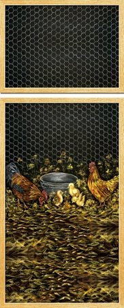 Rooster Family Refrigerator Cover Appliance Art T B