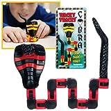 Red and Black Wacky Tracks Cobra Snake Bendable Fidget Toy Fine Motor Skills Autism by Andrews Corner