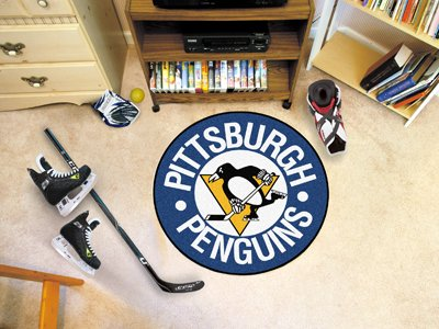 Fanmats NHL - Pittsburgh Penguins Puck Mat/27 Diameter