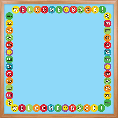 Hygloss Products Welcome Back Die-Cut Bulletin Board Border - Classroom Decoration - 3 x 36 Inch, 12 Pack
