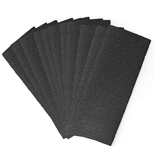80 Grit Dry Wet Sandpaper Sheets by LotFancy, for Metal Automotive Wood Sanding, Polishing, Finishing, 9 x 3.6