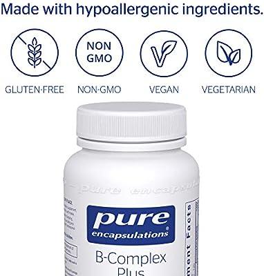 Pure Encapsulations - B-Complex Plus - Balanced B Vitamin Formula with Metafolin® L-5-MTHF and Vitamin B12 - 120 Count