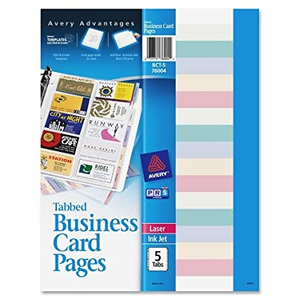 Amazon avery non stick tabbed business card holder pages avery non stick tabbed business card holder pages colourmoves