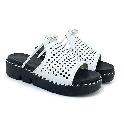 Women's Heel White Qin Chunky Sandals nbsp;flip Casual amp;x nbsp; Flop 5qxXXzgfw