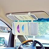TFY Car Visor Organizer. Triple-layer, 30 CD/DVD Disk Storage Holder - Beige