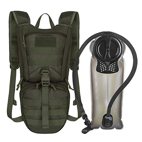 - Unigear Tactical Hydration Packs Backpack 1050D with 2.5L Water Bladder, Thermal Insulation Pack Keeps Liquid Cool up to 4 Hours for Hiking, Cycling, Hunting and Climbing (Green)