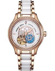 PRINCE GERA Women Watch 5 ATM Waterproof Ladies Luxury Dress Wristwatch(Rose Gold)