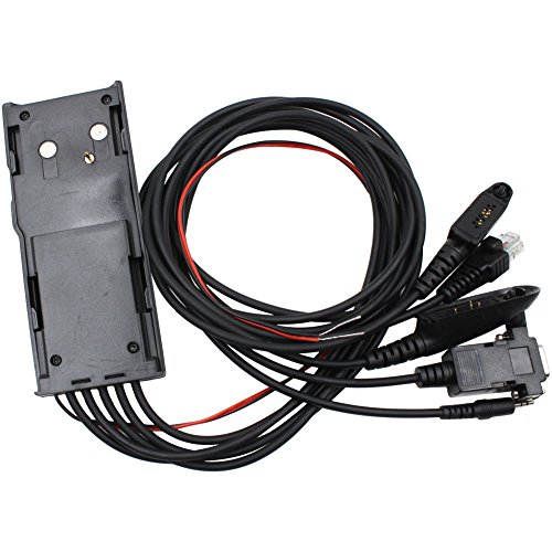 Tenq 5 in 1 Programming Cable for Motorola Gp300 Gm300 Gr1225 M110 Two-way Radios Rpc-m300xx ()