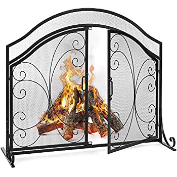 Amazon Com Plow Amp Hearth Large Crest Fireplace Screen