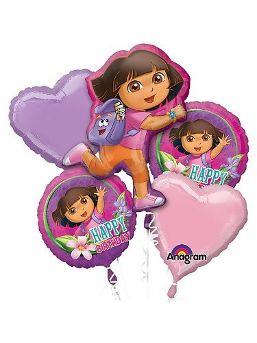 - Mayflower Products Dora The Explorer Bday Balloon Bouquet (Each)