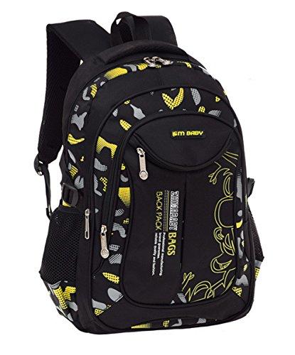 Fanci Flora Camo Prints Waterproof Nylon Elementary Middle High School Backpack Bookbag for Teenage Boys Travel Rucksack Daypack
