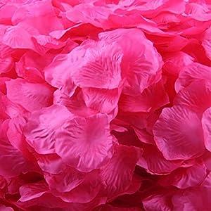 DZT1968 1000pcs Burgundy Silk Rose Artificial Petals Wedding Party Flower Favors Decor 45mm45mm 86