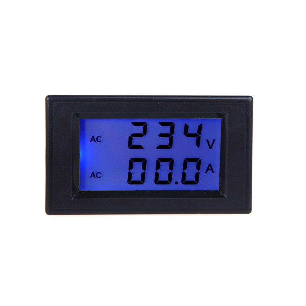 Wunes - デジタルLCD電圧計Voltmetroミニ電圧計電流計電流トランスAC80-300Vデュアルディスプレイ電気診断ツール B07CMWZ35W