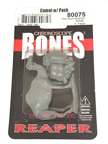 Camel Miniature - Reaper Miniatures Camel w/ Pack #80075 Chronoscope Bones Plastic Mini Figure