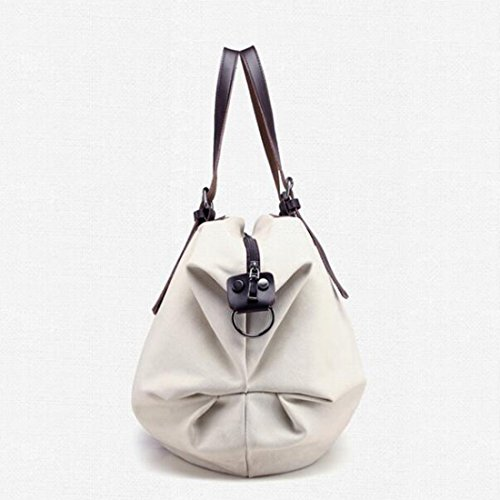 Bag Bag Handbag Canvas GOLD Weekend Grey TM Tote England Womens Large KISS Style Shoulder Hobo YZ8qPP