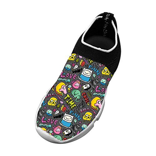 Sports Flywire Knitting Sneakers For Unisex Kids,Print Cool Cartoon 4 B(M) Us Big Kid